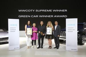 Hyundai Ioniq récompensée lors de compétition pour la « meilleure voiture pour femmes au monde »