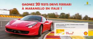 Gagnez votre Test Drive Ferrari en Italie avec Shell V-Power!