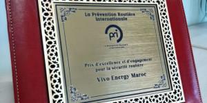 VIVO Energy Maroc reçoit le Prix de la prévention routière internationale