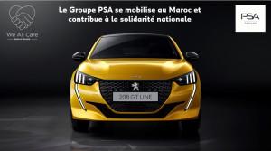 Covid-19 : Groupe PSA Maroc : don de 50 Peugeot 208 et de 200 000 masques