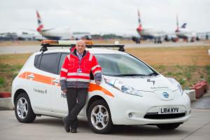 Nissan LEAF intègre la flotte d'Heathrow